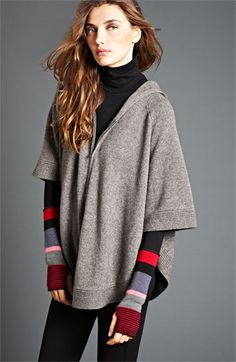 Eileen Fisher Yak & Wool Hooded Poncho | Nordstrom