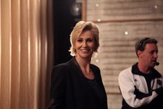 The Delightful Jane Lynch Shoots Us A Grin Backstage