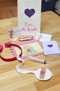 Doc McStuffins party favors, favor bags, gift bags, treat bags, goodie bags, 3rd birthday, doc mcstuffin, 2nd birthday, craft ideas