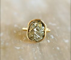 Pyrite Gold Ring