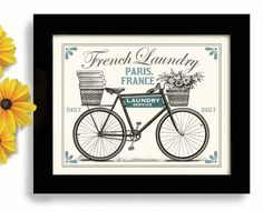 Laundry Room Decor French Laundry Kitchen Art Sign Wall by DexMex, $18.00