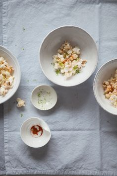 Brown butter, lime and chili popcorn
