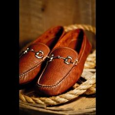 Men's Leather Shoes - Horse Bit Drive in 100% Bison Leather by Buffalo Jackson Trading Co... for the rugged gentleman