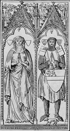 Fillet and a wimple; Béatrix de Candoire (1262, France)
