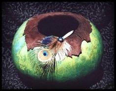 peacock feathers, gourdian art, gourd craft, gourdsgourd art
