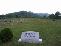 Surratt Cemetery  Lambsburg  Carroll County  Virginia  USA