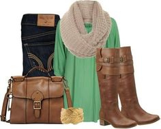 According to me Scarves and skinny jeans make an outfit .....Toz luv