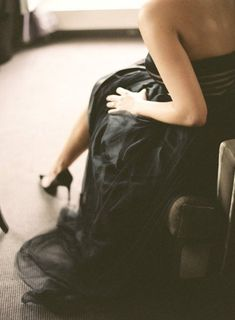 Bridal Black - black wedding dress; black wedding gown; black bridal gown