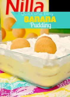 Quick and Easy Banana Pudding on MyRecipeMagic.com