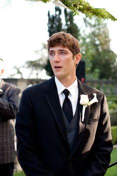 Awestruck groom. my favorite part of every wedding