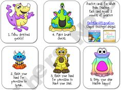 Behavior Practice Cards for Whole Brain Teaching