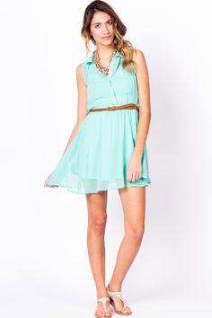 Pretty Chiffon Button Up Dress