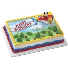 Disney Mickey Mouse Pluto Airplane Birthday Cake Decoration (like this cake minus Mickey Mouse)
