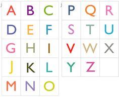 Alphabet card printable