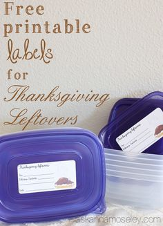 Send guests home with leftovers with these cute leftover labels - Ask Anna