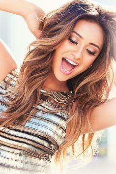 My goal hair, length and all. I also want to add purple and maroon highlights! #ShayMitchell you are too perfect!