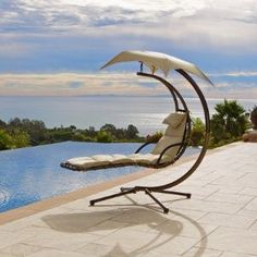 beach chairs, chaise lounges, pool, dream chair, outdoor chairs, the view, lounge chairs, swing, garden