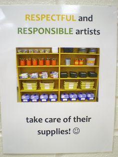 Eggers Art Room Organization