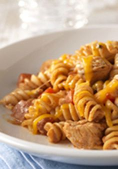 Fiesta Chicken Pasta -- Who says pasta has to be Italian? Bonus: It's ready for the dinner table in less than 30 minutes.
