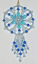 Icy Fringed Spoke Crystal Ornament by Charlotte Holley - Beaded Legends by Chalaedra