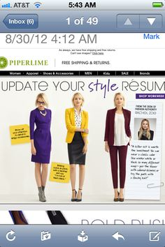 Interview outfit ideas from piperlime.com.