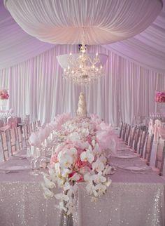 Light Pink Reception decorations