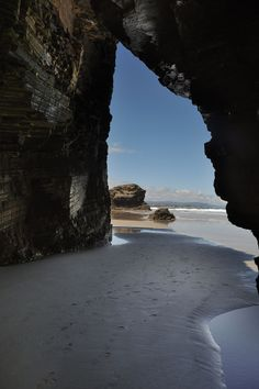 Ribadeo. Playa de Aguas Santas