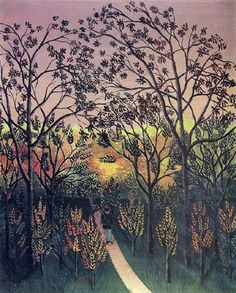 A Corner of the Plateau of Bellevue by Henri Rousseau :: Henri Rousseau :: 13-0103 - A Corner of the Plateau of Bellevue by Henri Rousseau