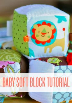 Baby blocks are soft ways to grow the imagination – and easy to make.