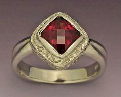14kw gold ring with Rhodalite Garnet