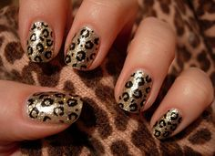 #Leopard #Gold #Nails #AJB