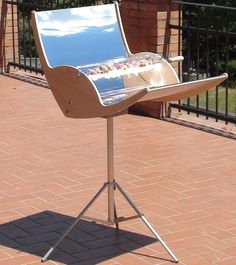Solar Barbecue Grill. And why not...