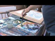 Koi in Lillies - watercolour - YouTube