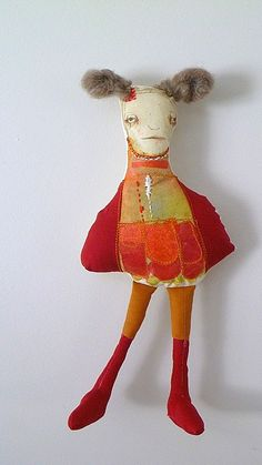 funki art, hello dolli, mixed media art, art dolls