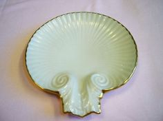 Vintage Lenox China Clamshell Candy or Soap Dish
