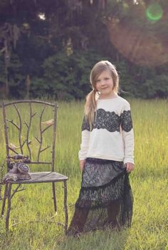 Tween Timeless Long Lace Maxi Skirt 7 to 14 Years Now in Stock
