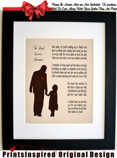 ... wedding print in any color gift under 20 dollars. Poems person father