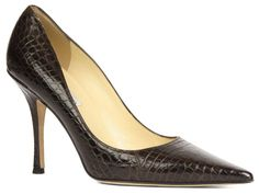 Jimmy Choo Coffee Erika Crocodile Pumps