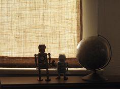 DIY Burlap Window Coverings #DIY #Burlap