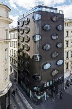 Hotel Topazz located in Vienna, Austria designed by BWM Architekten und Partner