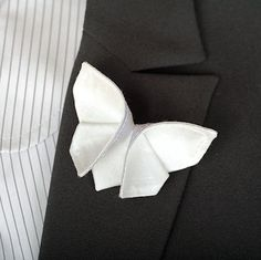 Butterfly Boutonniere for the Groom for a Butterfly themed wedding