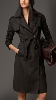 Long Double Cashmere Trench Coat | Burberry