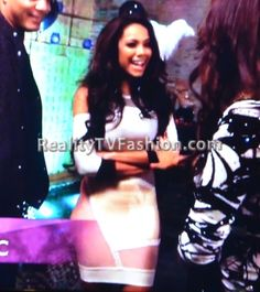 "Erica Mena's Cut Out Bandage Dress on ""Love & Hip Hop New York"""
