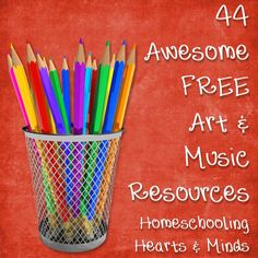 Homeschooling Resources: 44 Free Awesome Online Art & Music Freebies | Free Homeschool Deals ©