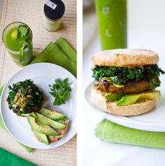 Green Breakfast Sandwich with Kale #vegan