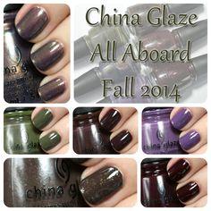 China Glaze Fall 2014 swatches via @alllacqueredup
