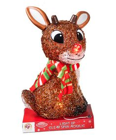 Love this Rudolph Light-Up Statue on #zulily! #zulilyfinds