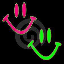 Neon Happy Faces