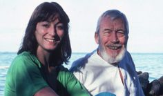 Anjelica Huston and dad John Huston