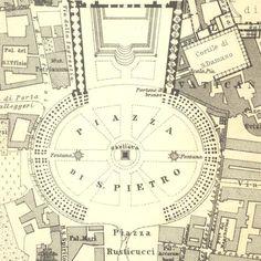 Vatican City - St. Peters Basilica Map, 1926